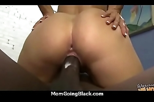 a fine hardcore interracial sexual congress with respect to hawt Milf 18