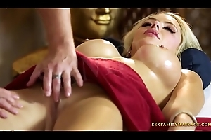 Stepmom artistry stepson into blow job