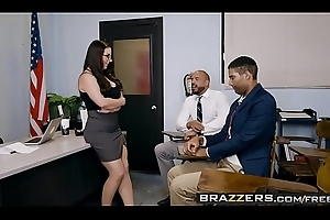 Brazzers - Broad in the beam Tits convenient School - Foster-parent Going to bed Instructor Meetings scene starring Angela Waxen with the addition of Karl
