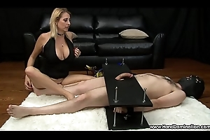 Selfish MILF gives profane femdom tugjob to cock in the matter of subjection