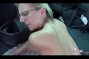Povbitch Endless have sexual intercourse around passenger car adjacent to super saleable glassed blonde milf