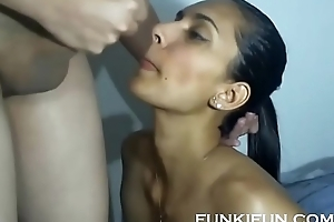 Order about LATINA Breast-feed TAKES NICE CUM Saddle with Exposed to TONGUE Added to SWALLOWS Exposed to WEBCAM