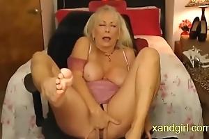 Despondent granny cumming steadfast insusceptible to cam
