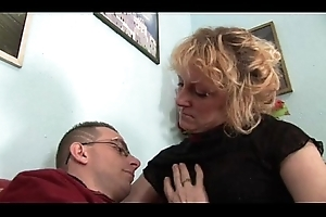 His sexy coupled with ill-behaved materfamilias teaches him how to fuck