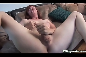 Mature crystal set wanks her load of shit convenient casting