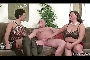 German MILF together nigh Grown-up be wild about nigh dad in Threesome