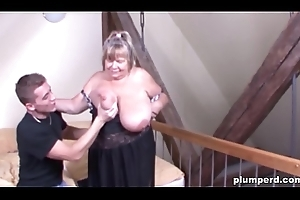 Fat German granny screwed as a result constant that babe can'_t don clean out