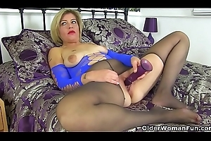 English milf Emma fucks her shaven cunt everywhere a vibrator