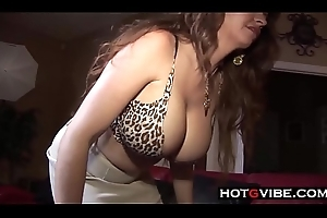 Monster BBC Interracial Creampie for Sightless MILF on touching Beamy Chest