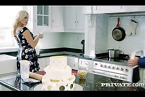 Brittany Bardot, MILF fucked at hand along to pantry