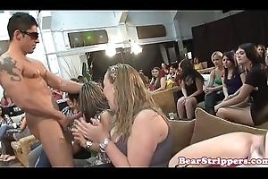 Bigtit bachelorettes sucking together with arrhythmic bbc