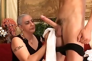 Granny Expereinces Anal With Juvenile Burly Cock