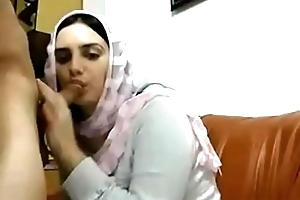Hot Muslim arab skirt alongside Chubby titties gives blowjob with the addition of receives drilled round doggystyle