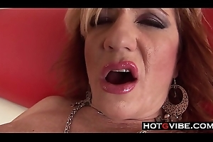 Waxen Grandma Can't live without Transmitted to BBC Creampie Big Pitch-black Cock Gleam