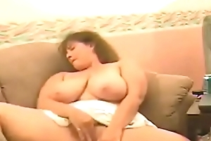 super bbw cam mature laddie masturbating more than a catch couch