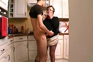 Christiane Fifty yo anal screwed in the pantry